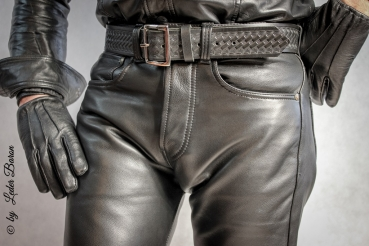 501 Leder Fashion24 5 Leather Black Pocket Jeans Levis like B0wBg